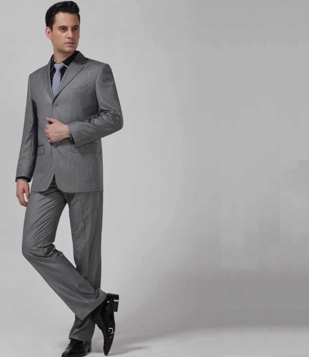 Costumes gris homme mariage - Costume homme gris clair ...
