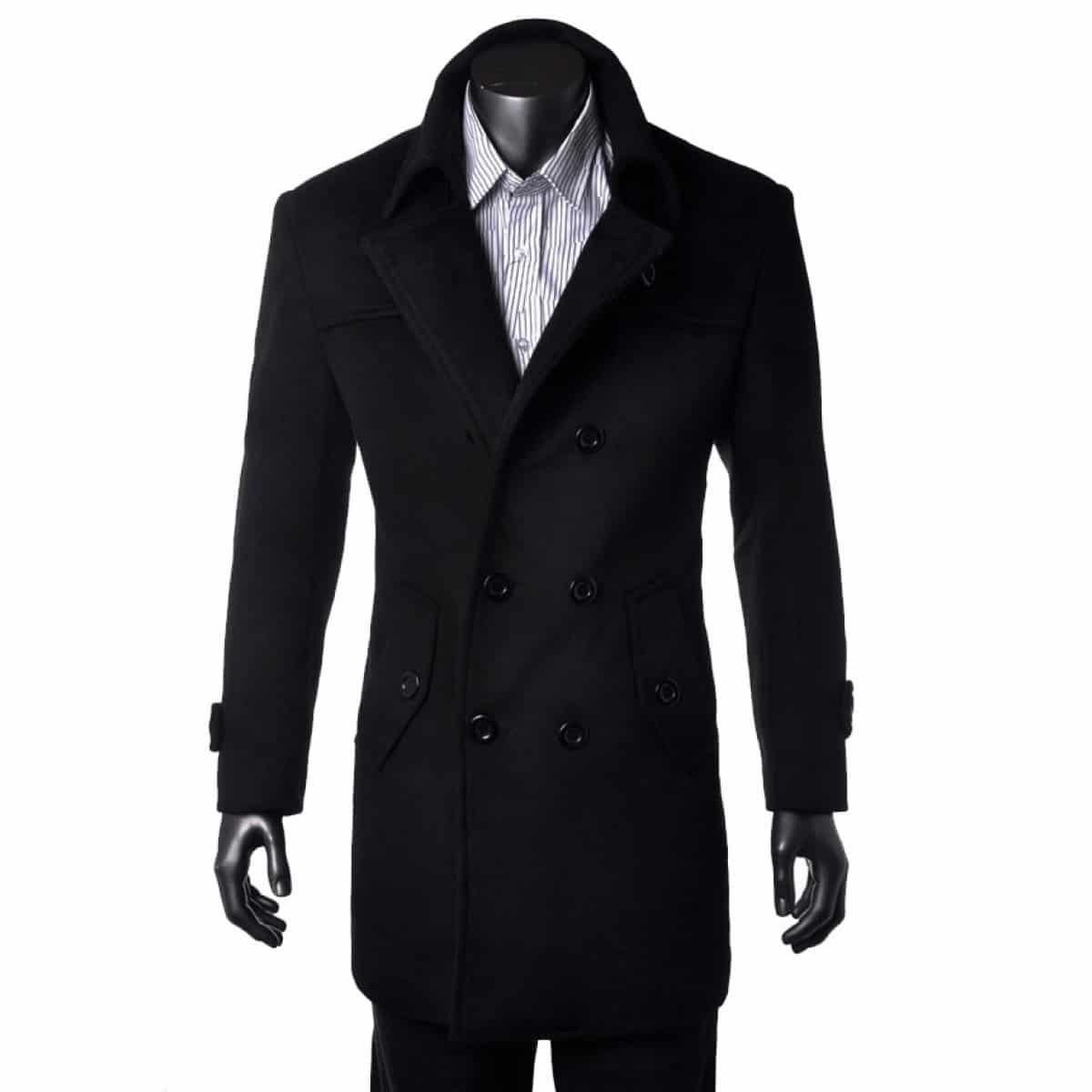 manteau long homme noir comment l 39 entretenir. Black Bedroom Furniture Sets. Home Design Ideas
