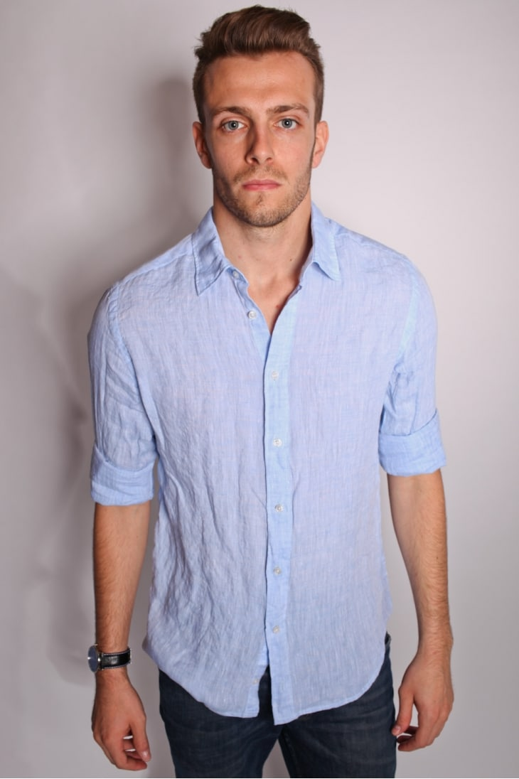 Chemise bleu ciel homme